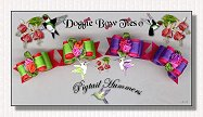 Puppy Dog Bows-Bright Pigtail Hummers