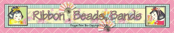 Dog Bow Supplies-Ribbon, beads, elastics, dog bow kits