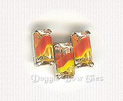 Baguette Sew-On Rhinestone-Vintage Candy Corn